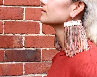 Eadie, Copper. Fringe Earrings