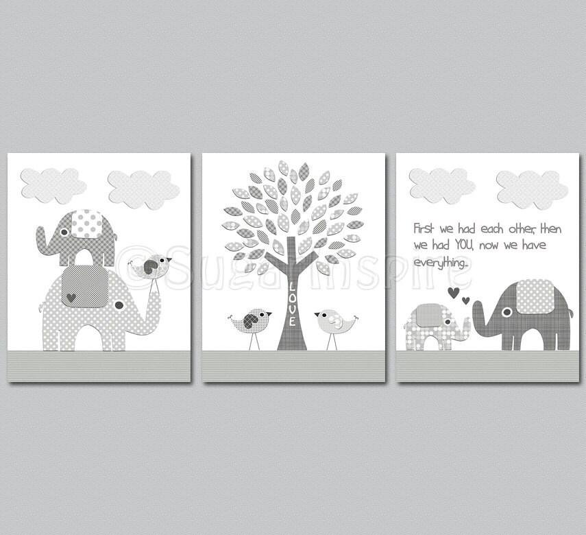 nursery decor twin elephant cutest