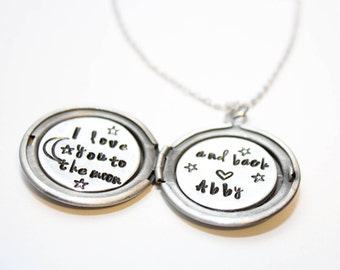 i love you to the moon and back necklace, i love you to the moon and back jewelry, moon and back theme gift, moon and back locket
