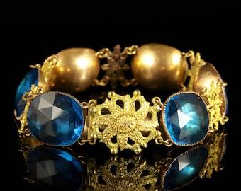 Antique Georgian Queen Anne Bracelet Magnificent Stones Circa 1700
