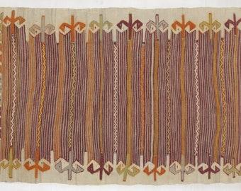 Afyonkarahisar Kilim Rug, 2.7x4.7ft, Kilim, Turkish Kilim, Anatolian Kilim, Vintage Kilim Rug, Handwoven Kilim, Afyonkarahisar Kilim