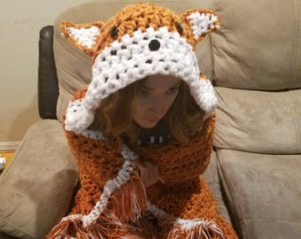Cuddly Crochet Fox Blanket it