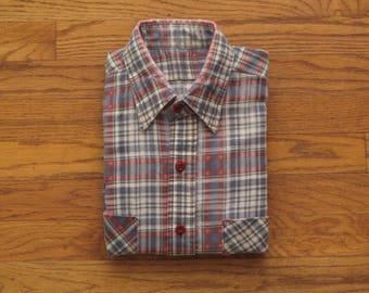 vintage printed flannel shirt
