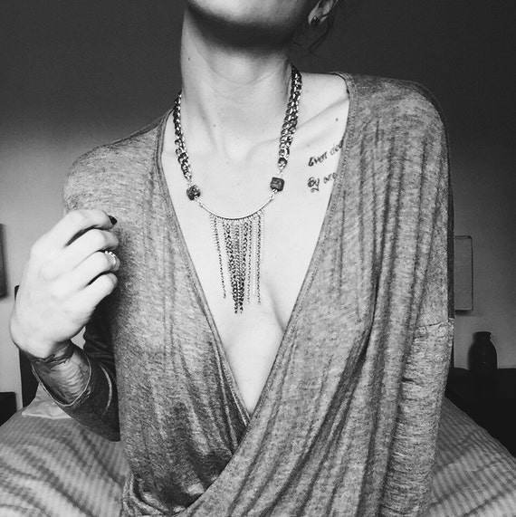 HARDWARE|| Draped Pyrite Necklace