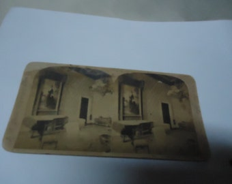 Antique 1800's Stereoviewer Slide Of The Presidents Mansion by J.J. Jarvis Stereoscope Views, collectable