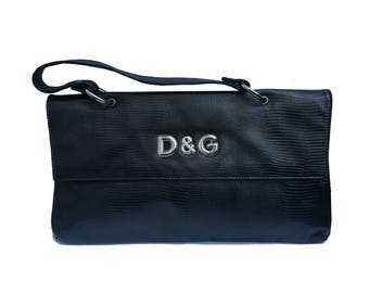 Dolce & Gabbana snake print envelope bag