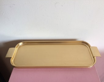Vintage England Slim Gold Woodmet Tray