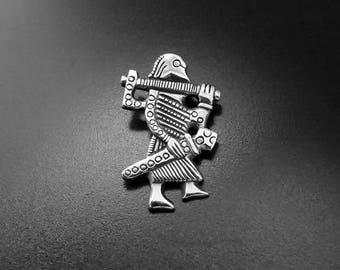 Klahammar Viking warrior silver pendant
