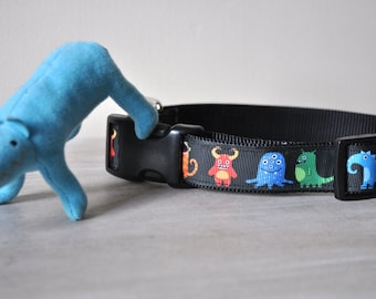 Dog Collar - Little Monster  -  50% Profits to Dog Rescue