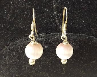 Polished Gemstone Sterling Earrings
