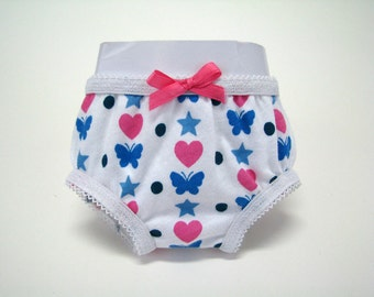 """18 Inch Doll Clothes -18 """" Doll Underwear - Doll Clothes - 18 Inch Doll Panties - Butterfly/ Star Panties - 18"""" Doll - American Made"""