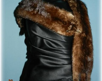 1940s Mink Stole Collar with Pelts