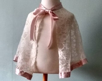 Flower girl lace cape