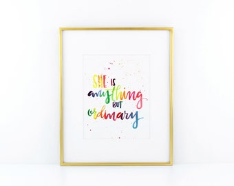 anything but ordinary print