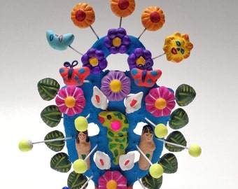Mexican Clay tree of Life classic form