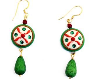 Earrings depicting the cassata