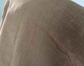 Brown Cotton Linen Fabric Half Yard