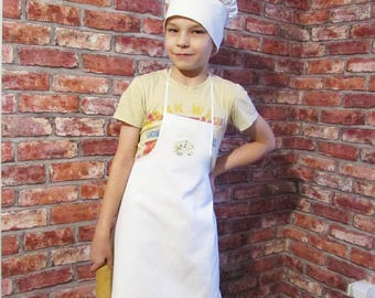 Apron and Chef's hat for Kids,Sewing Pattern pdf,Easy PDF,on for Little Helper,girl's pattern and boy's Pattern.Apron for kitchen.