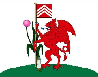 Cardiff Flag Sticker (Wales Uk Logo Decal)
