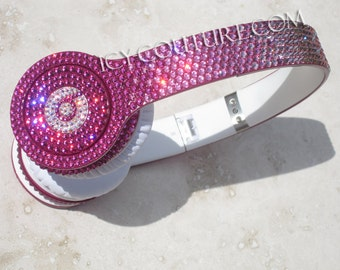 Swarovski BLING Pink Ombre BEATS Custom Bedazzled with Crystals