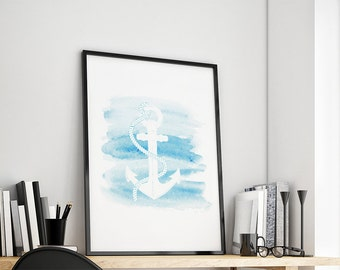 Anchor marine gift family art print, fine art print
