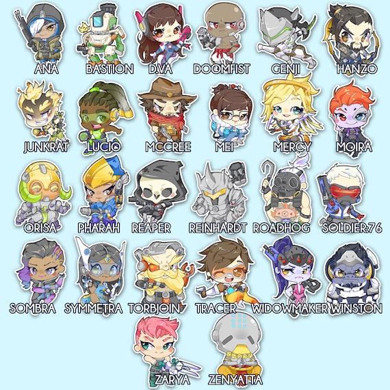 Overwatch hero chibi stickers of choice
