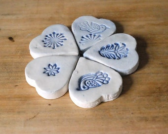 Decorative hearts with motifs