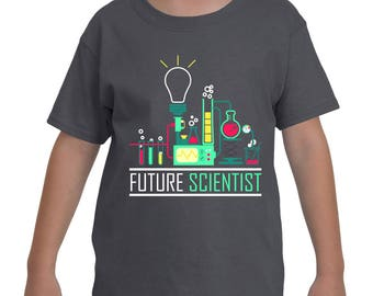 Future Scientist kids/youth t-shirt, Science, Funny t-shirt, Youth t-shirt, Kids T-Shirt (Gildan G200B) for your boy or girl