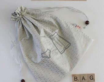 Lingerie Bag - Embroidered Underwear Drawstring Bag