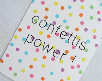 "Card ""Confetti power!"""