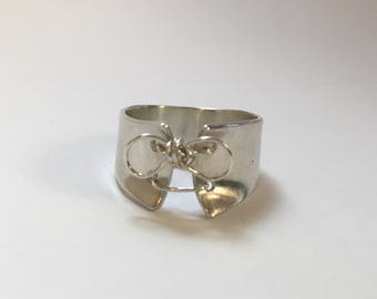 Sterling silver ring in the shape of a corset. Silver corset. Corset ring. Original ring Handmade.