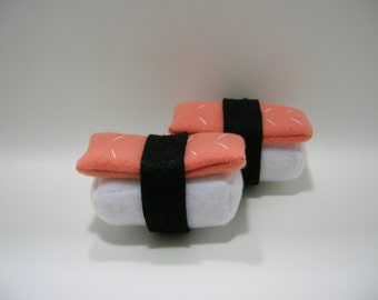 Hand-made Salmon Sushi Catnip Filled Cat Toy