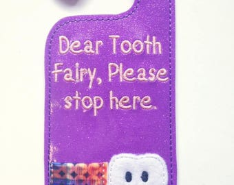 Tooth Fairy Door hanger - PURPLE