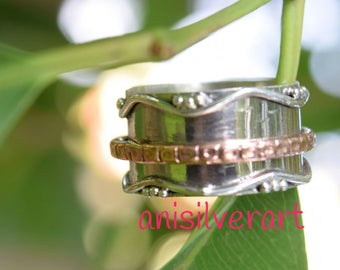 Sterling silver spinner ring - Spinner ring - Meditation ring - Fidget Ring