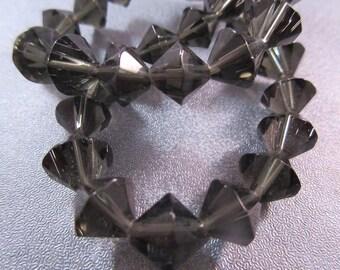 Glass Smoky Color Bicone Beads 40pcs