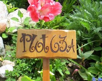Garden Allotment Stake Sign * Custom garden stakes * Personalised Custom made Sign