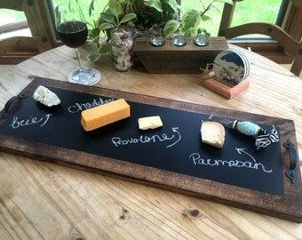 "Chalkboard Serving Tray 30"" x 11"""