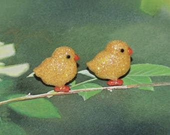 Handcrafted Novelty Yellow Baby Chick Post Pierced Earrings