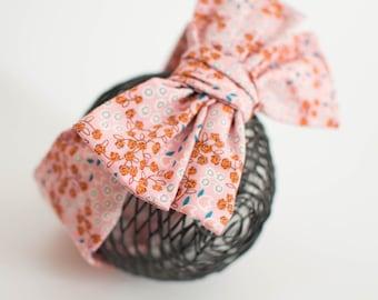 Baby Bow Headwrap, Baby Turban, Toddler Big Bow Headband, Top Knot Baby, Fabric Tie Headband