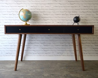 Bloom Desk / Console Table in Solid Walnut - Danish Modern Style
