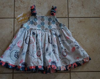 Going out of business SALE, girls ruffle dress ,size 6-12 months girls dress, Ready to ship