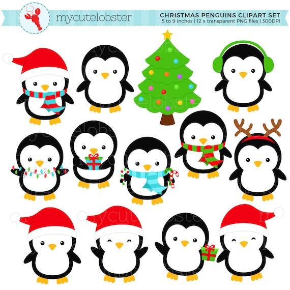 Weihnachten verwenden pinguine clipart clip art set urlaub - Clipart weihnachten ...