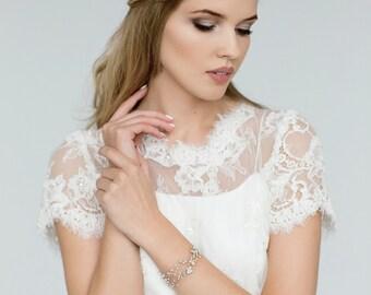 Wedding Bracelet, Pearl Bracelet, Bridal Jewelry , Ivory Pearl bracelet , Bridesmaid Bracelet , Wedding Jewellery