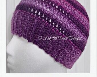 Messy bun/ponytail beanie hat pattern - PDF79 instant download