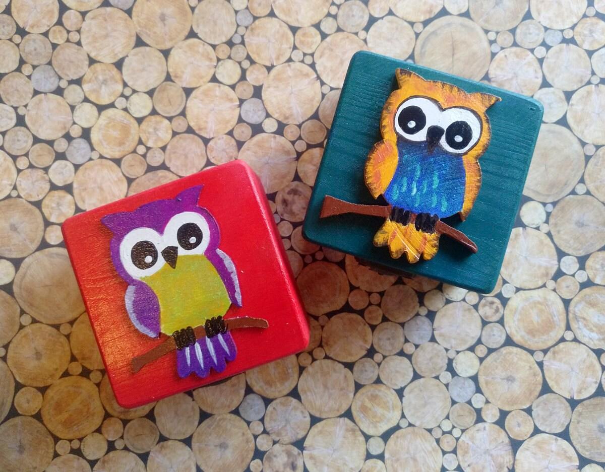 B hos pintados peque as cajas de madera decoradas a mano - Cajas decoradas a mano ...