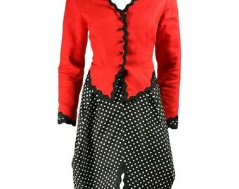 Vintage 1990's geoffrey beene cotton pique skirt suit
