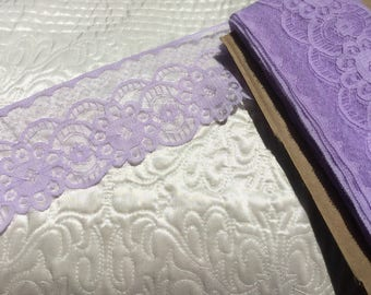 "Lilac Lace trim 3"" wide"