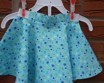 Summer Skirt - Circular Skirt -  Toddler Skirt - Handmade - Gift Idea