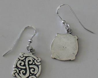 Sterling Silver CELTIC KNOT Earrings - Celtic, Pagan, Scottish