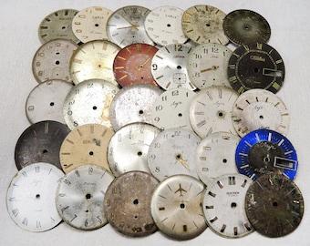 Vintage Big Watch Faces - set of 30 - c117